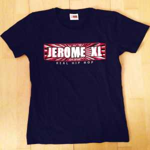 Jerome XL - Girly T-Shirt - Navy Blauw