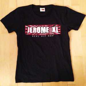 Jerome XL - Girly T-Shirt - Zwart